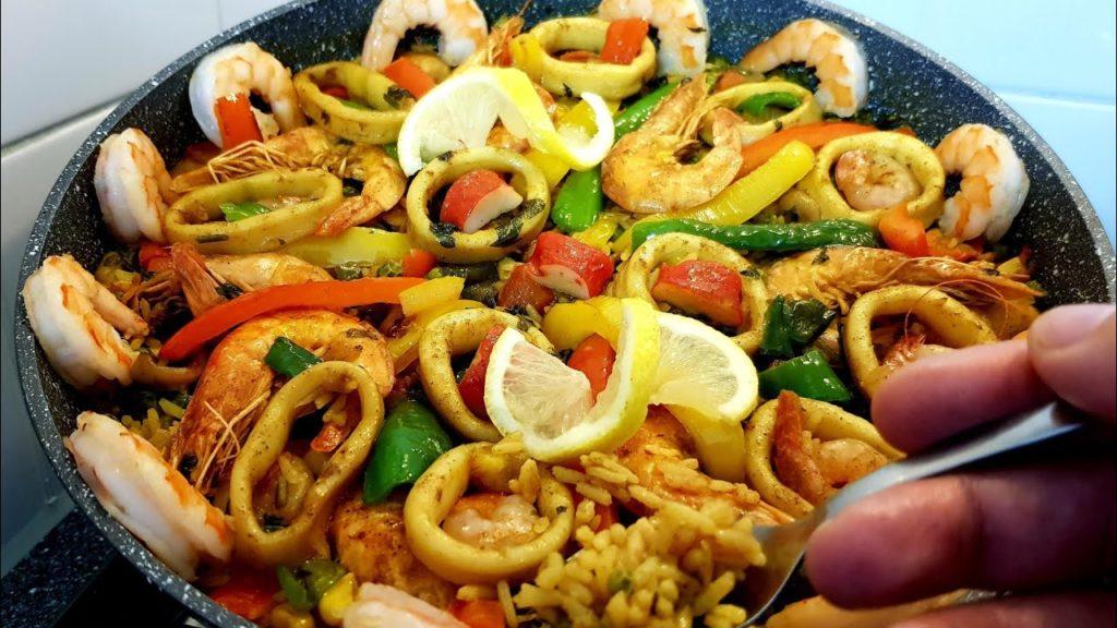 الأكلات الأسبانية - البايلا